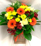 Bright Temporary Vase Arrangement - florist choice