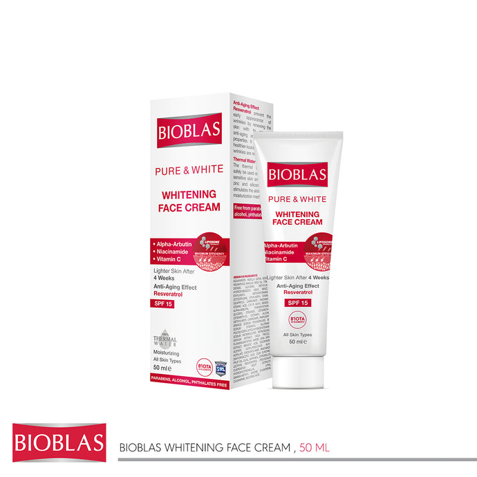Bioblas Whitening face cream 50 mg (code 7407)