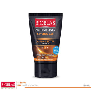 Bioblas anti-hair loss styling gel Wet sensation Wet look 150 ml (code 7409)
