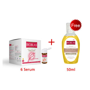 Bioblas Anti-hair Loss Herbal Serum with Free Shampoo sulphate free
