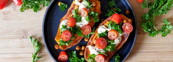 Lebanese Sweet Potato Boats