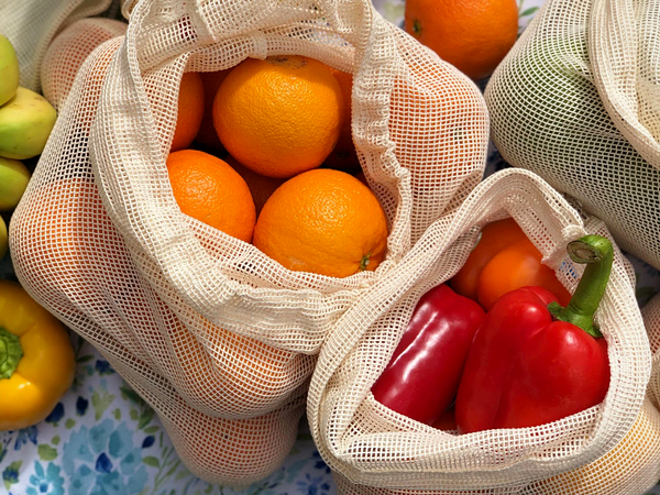 Reusable Produce Bags - Pack of 6
