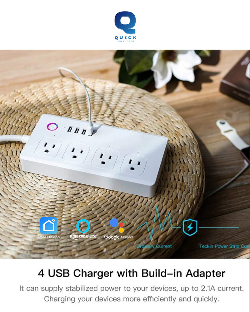 QUICK REGLETA MULTIPLE CON USB (SMART WIFI SURGE PROTECTOR + USB)