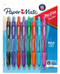 Paper Mate Profile Retractable Ballpoint Pens, Bold Point,  Assorted Ink Colors, Pack Of 8