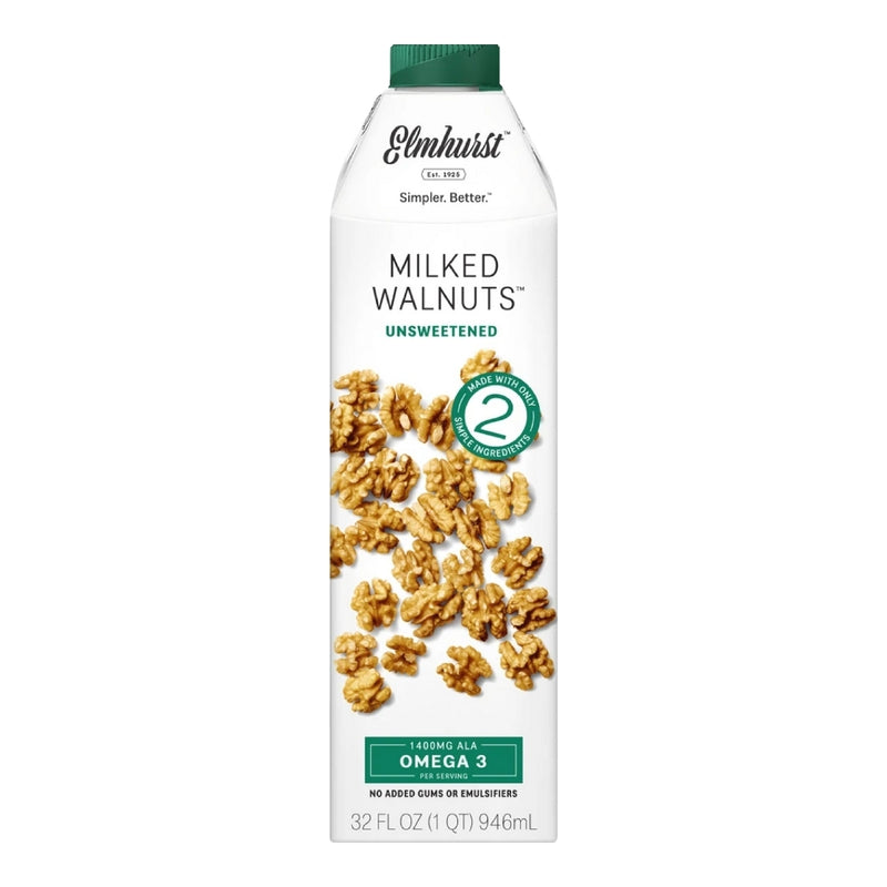 Elmhurst Walnut Milk Unsweetened 6 pack 32 oz