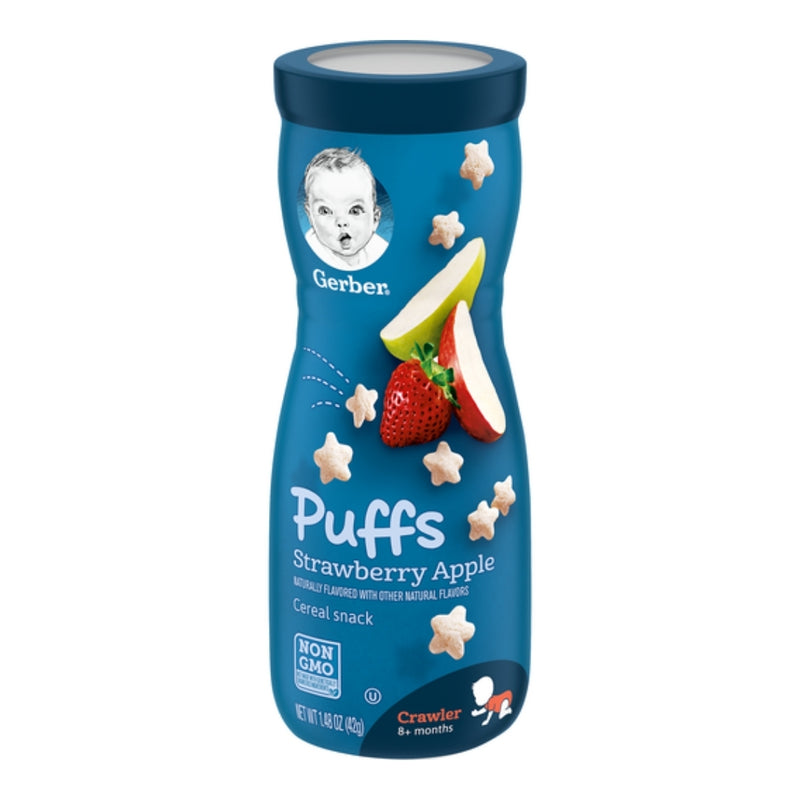 Gerber Puffs Strawberry Apple Cereal Snack
