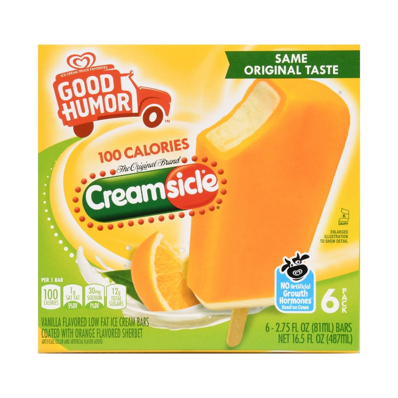 Good Humor Ice Cream Bars Creamsicle Just 100 Calories.  6 Pack