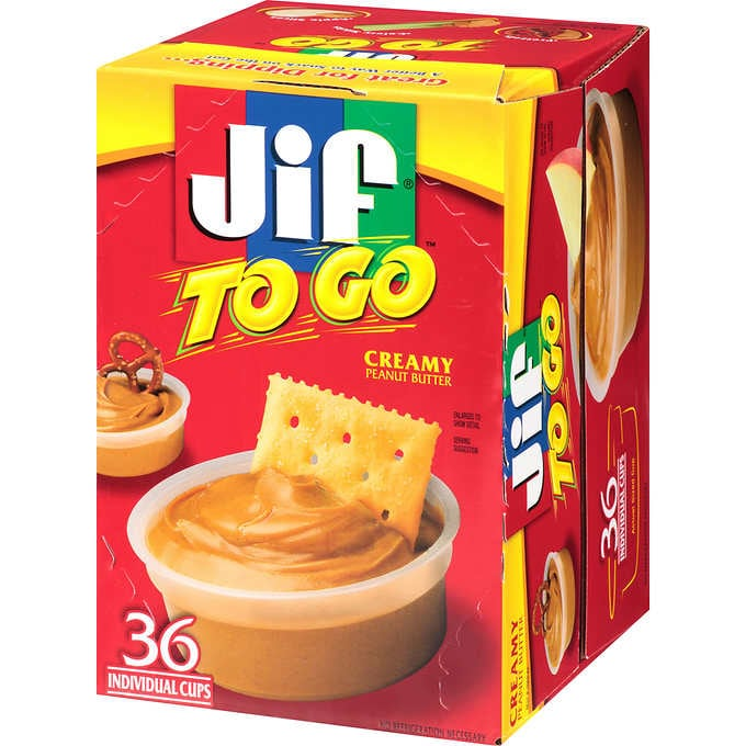 Jif to Go Creamy Peanut Butter, 1.5 oz - 36 ct