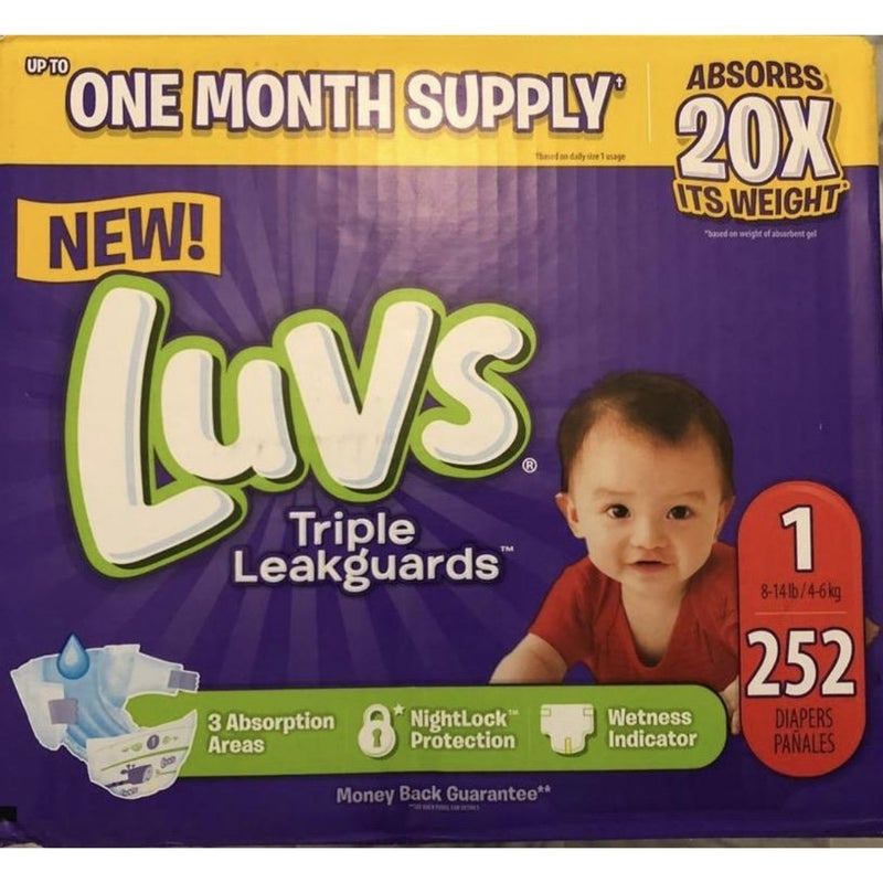 LUVS Diapers, Size 1 . 252 ct