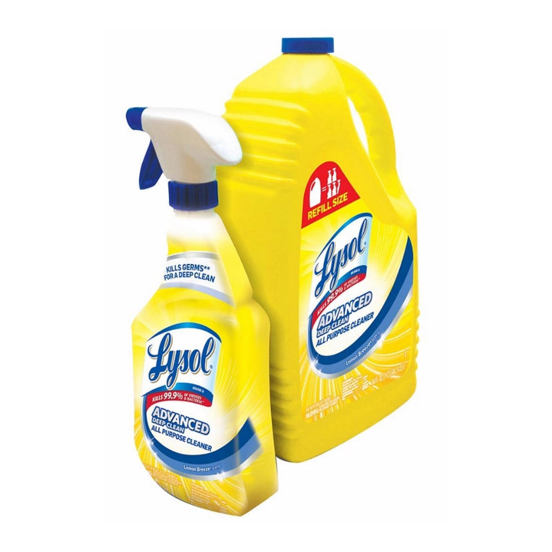Lysol Lemon All Purpose Cleaner32 oz. Spray Bottle with 144 oz Refill