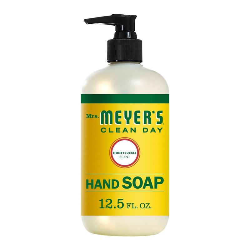 Mrs. Meyer's Clean Day Liquid Hand Soap Bottle, Honeysuckle Scent,