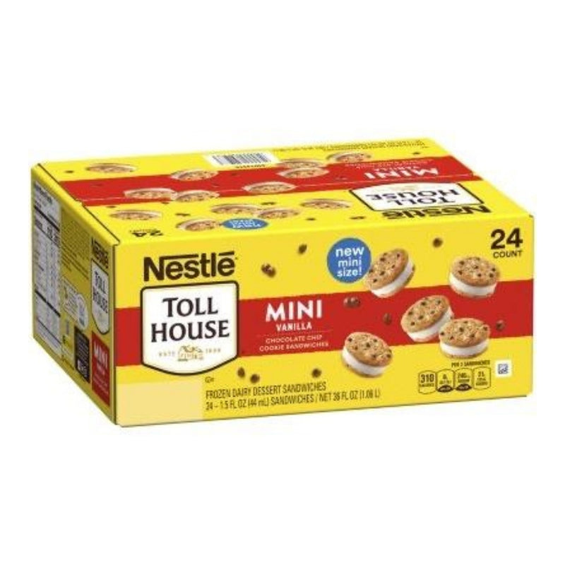 Nestle Toll House Mini Vanilla Chocolate Chip Cookie Sandwiches (24)