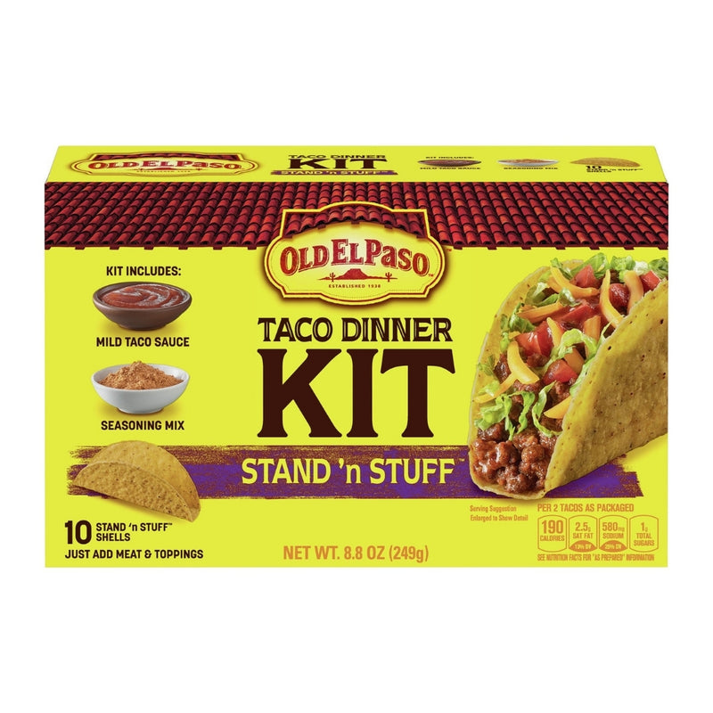 Old El Paso Stand 'n Stuff Taco Dinner Kit 30 Tacos