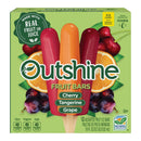 OUTSHINE Cherry Tangerine & Grape Frozen Fruit Bars 12 Pack. Box Gluten Free Non GMO