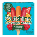 OUTSHINE No Sugar Added Strawberry, Tangerine & Raspberry Frozen Fruit Bars, 12 Ct. Box | Gluten Free