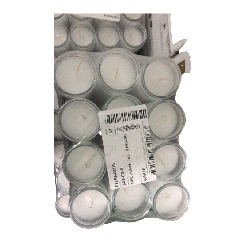 White candles 12 pack