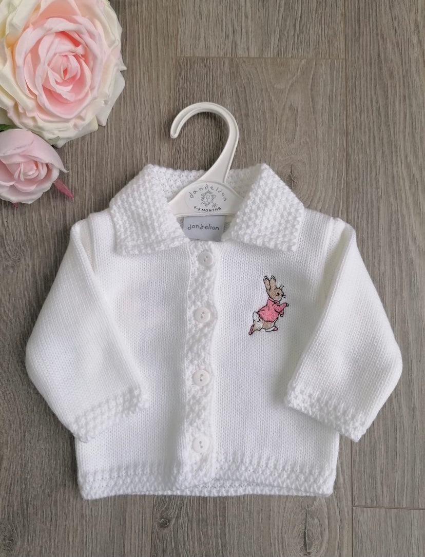 Peter Rabbit Flopsy Knitted White Cardigan