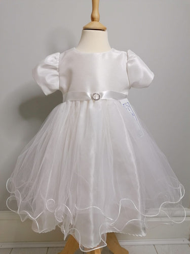 Eva Rose White Christening Dress With White Sash