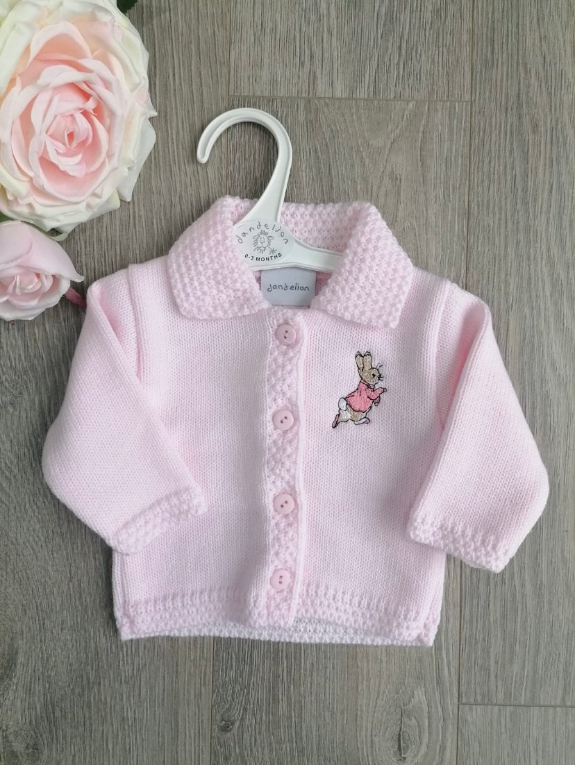 Peter Rabbit Flopsy Knitted Baby Pink Cardigan