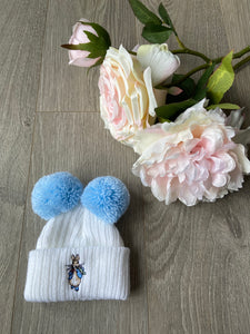 Peter Rabbit Double Pom Pom Hat