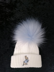 White Peter Rabbit One Pom Hat
