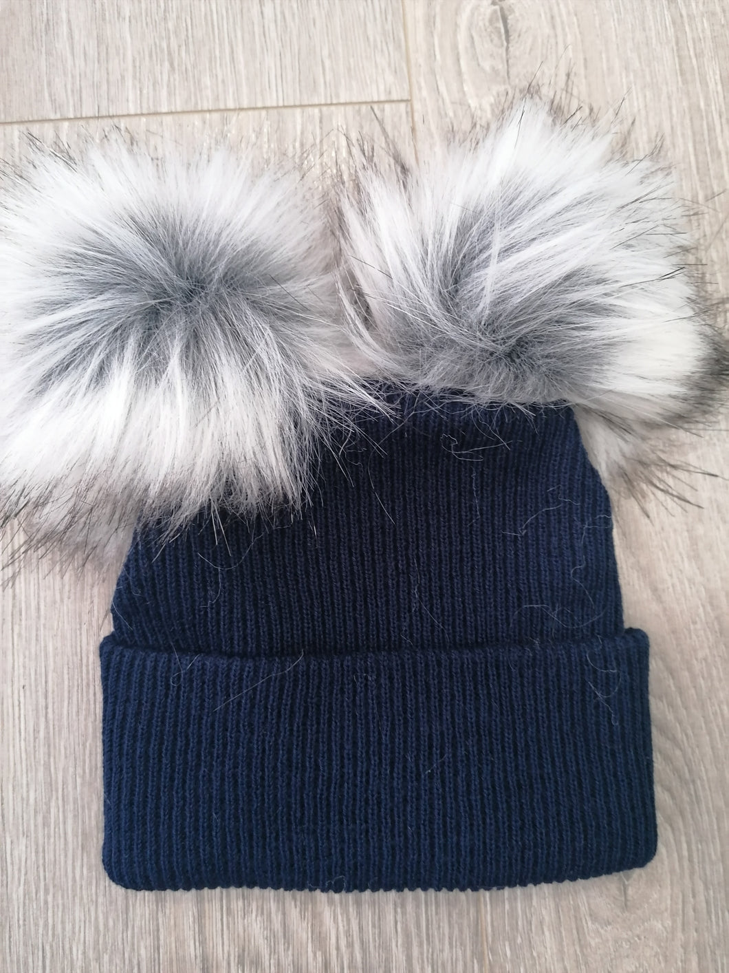 Navy Two Pom Hat.