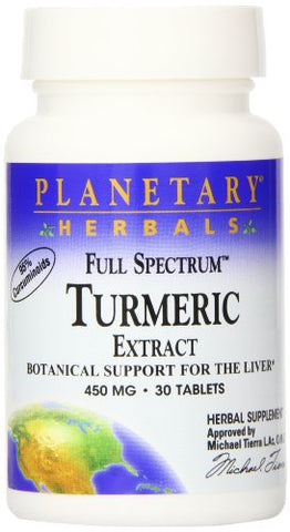 TURMERIC EXTRACT FS 450MG 30T- PLANETARY HERBALS