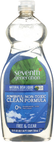 NATURAL DISH LIQUID 25 OZ - SEVENTH GENERATION