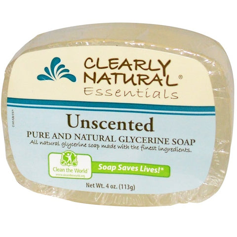 GLYCERIN BAR SOAP 4 OZ -ESSENTIALS NATURAL