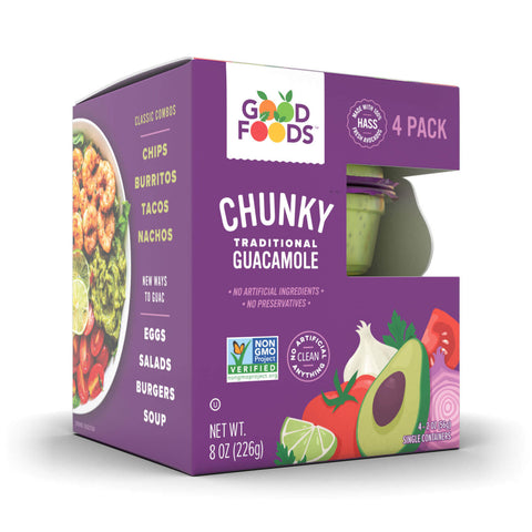 CHUNKY GUACAMOLE 4 PACK - GOOD FOODS