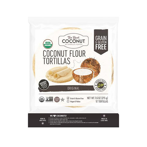 COCONUT ORIGINAL TORTILLAS GRAIN FREE- REAL COCONUT