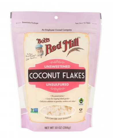 COCONUT FLAKES UNSWT 10Z-BOB'S RED MILL