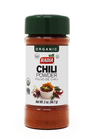 ORGANIC CHILI POWDER 2 OZ - BADIA
