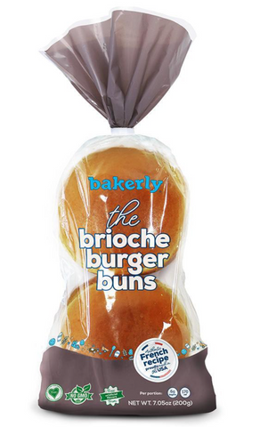 BRIOCHE BURGER BUNS 4 PACK - BAKERLY