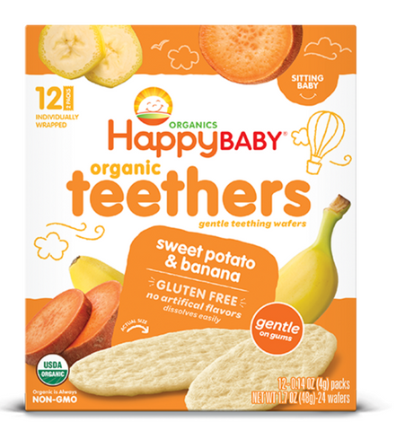 ORGANIC SWEET POTATO & BANANA WAFERS - HAPPY BABY