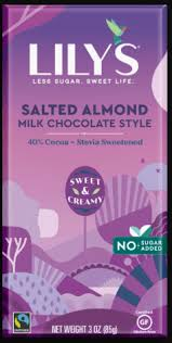 SALTED ALMOND MILK CHOCOLATE 3 OZ- LILYS SWEET