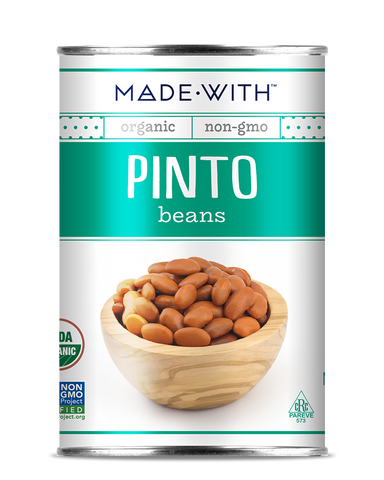 PINTO BEANS 15 OZ - MADE WITH