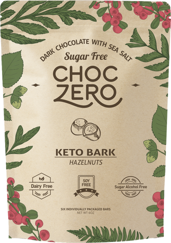 DARK CHOCOLATE HAZELNUT KETO BARK - CHOC ZERO