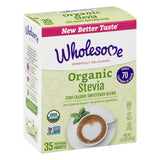 ORGANIC STEVIA - 35 PACKETS - WHOLESOME