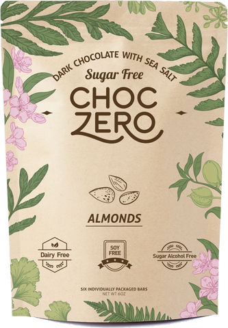 DARK CHOCOLATE ALMOND KETO BARK -CHOC ZERO