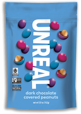 Dark Chocolate Covered Peanuts- Unreal