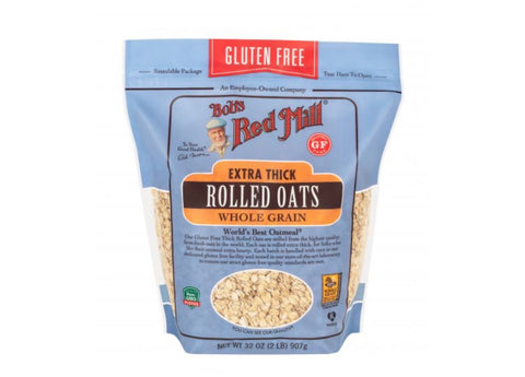Gluten free extra thick rolled oats whole grain 32oz - Bob's Red Mill
