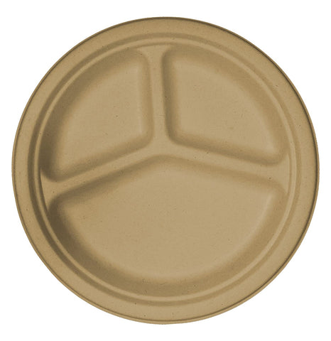 "Compostable 3 Compartment 10"" Plates (20) - Platos"