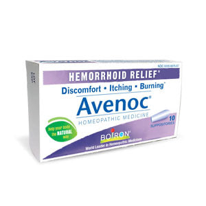 Avenoc hemorrhoid relief suppositories 10ct - Boiron