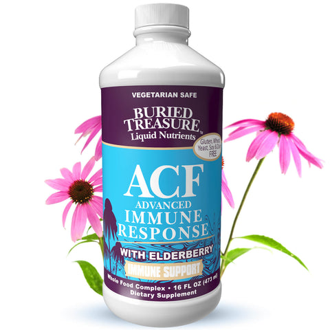 Acf advanced immune response with elderberry 16oz - Buried treasure