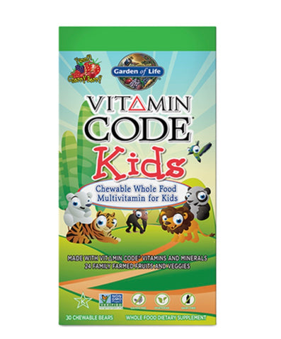 Vitamin code kids 30 chewable bears - Garden of life
