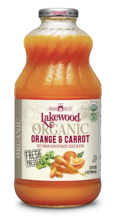 Juice Orange & Carrot Organic 32oz - Lakewood