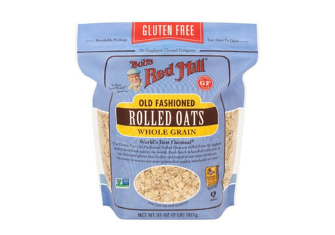 Gluten free old fashion rolled oats whole grain 32oz - Bob's Red Mill