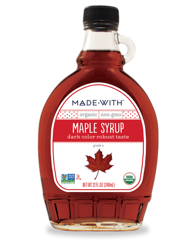 MAPLE SYRUP DARK COLOR ROBUST TASTE- Made With