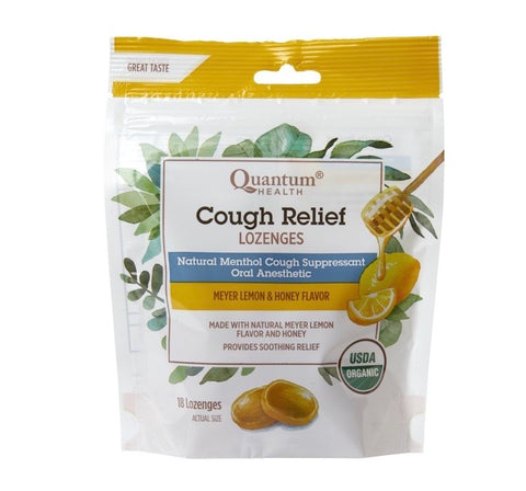 Cough relief lozenges 18ct - Quantum health